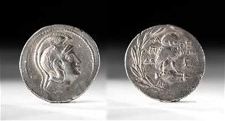 Greek Attica Silver Tetradrachm  Athena