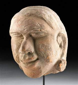 15th C. Indonesian Majahapit Pottery Head of a Male