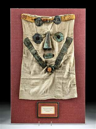 Chimu / Chancay Textile & Copper-Silver Mask Features