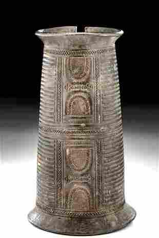 20th C. Nigerian Edo Bronze Arm Cuff