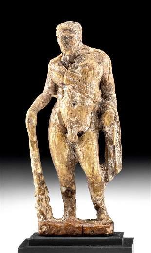 Fine Roman Bone Standing Figure Hercules
