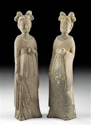 Chinese Wei Dynasty Pottery Ladies, ex-Christies