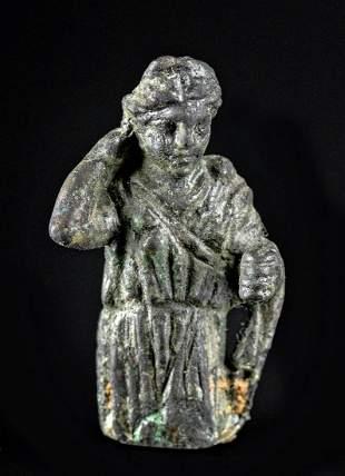 Miniature Roman Leaded Bronze Female - Diana / Artemis
