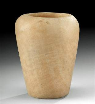 Egyptian Ptolemaic Alabaster Vessel Near-Miniature