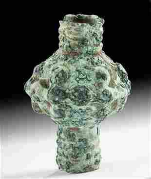 Luristan Bronze Ceremonial Mace Head w/ Nice Patina
