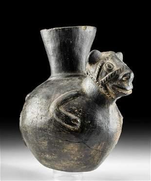 Chimu Blackware Llama Jar