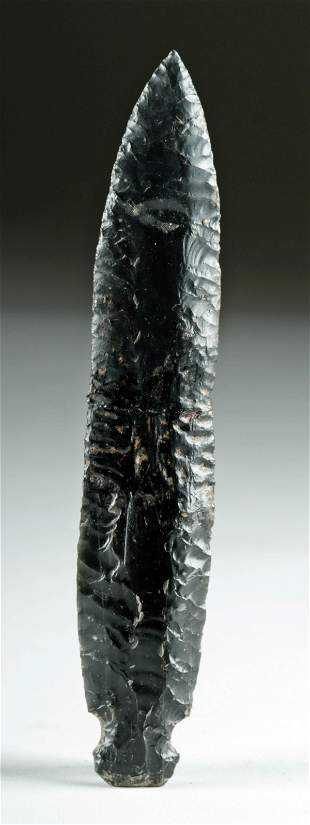 Colima Obsidian Knapped Blade