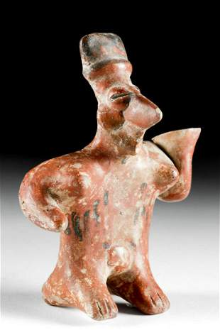 Jalisco Redware Standing Sheepface Female Figure
