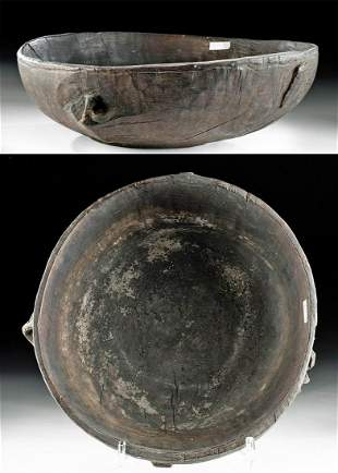 Early 20th C. Papua New Guinea Boiken Wood Food Bowl