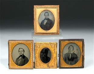Mid 19th C. Daguerreotypes & Ambrotypes - Union Cases