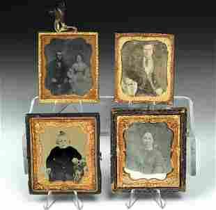 Mid-19th C. American Tintype & Daguerreotype Photos