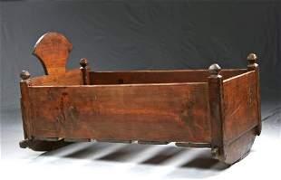 19th C. American Wooden Crib / Rocker