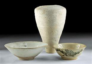 Group of 3 Chinese Song Dynasty Pottery Vessels