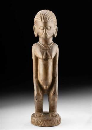 Early 20th C. African Malinke Wood Female Figure