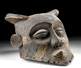 20th C. African Kuba Wood Bwoom Mask