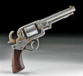 1856 American Steel & Wood Revolver - Starr Arms Co. NY