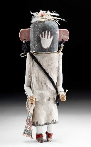 Antique Zuni Wood Kachina (Anahoho) w/ Gourd on Back