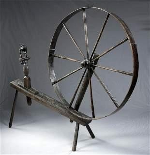 Early 19th C. American Wooden Walking Wheel