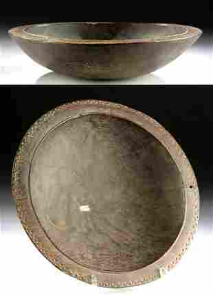 19th C. Trobriand Islands Massim Wooden Feast Bowl