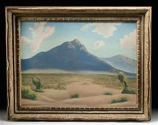 Early 20th C. Desert Landscape Painting K.Schade