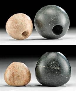 2 Egyptian Alabaster / Greenstone Maceheads Ex Sothebys