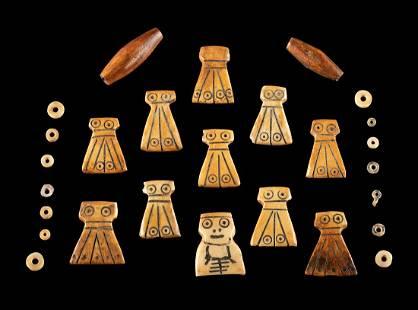 Lot of 27 Egyptian Coptic Bone Beads
