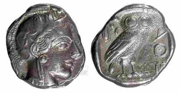 Greece Attic AR Silver Tetradrachm - 17.1 g