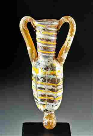 Greek Hellenistic Core-Formed Glass Amphoriskos