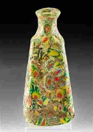 Striking Roman Millefiori Glass Jar