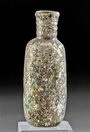 Stunning Roman Glass Jar - Gorgeous Iridescence