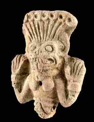 Ancient Babylonian Pottery Pazuzu Amulet