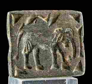 Bactrian Stone Stamp Seal w/ Elephant