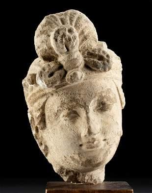 Gandharan Stucco Head of Prince
