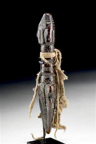 19th C. Tibetan Carved Wooden Phurba