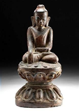 18th C. Thai / Cambodian Gilded Wood Buddha