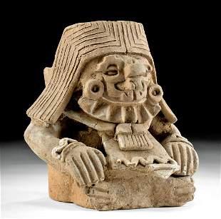 Zapotec Pottery Incensario of a Deity