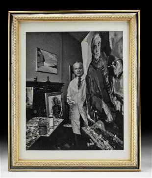 Framed Photo of William Draper in his Studio, ca. 1967