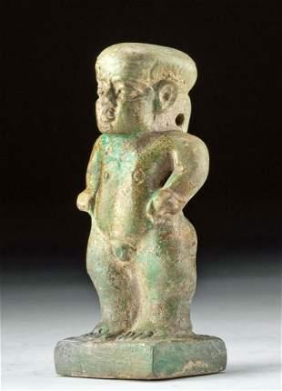 Egyptian Glazed Faience Pataikos Pendant
