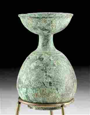Greek Attic Leaded Bronze Oil Refining Funnel