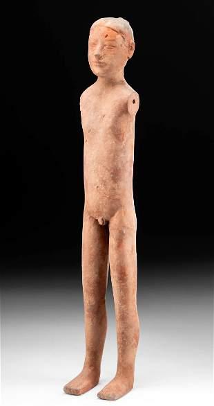 Chinese Han Dynasty Terracotta Guardian Figure