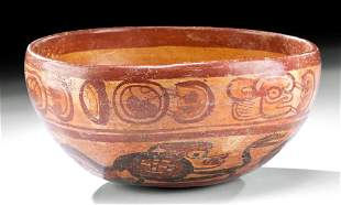 Maya Copador Polychrome Bowl w/ Monkeys
