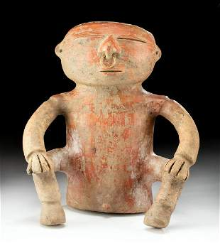 Quimbaya Redware Seated Male Figure