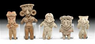 Lot of Five Pre-Columbian West Mexican Pottery Figures