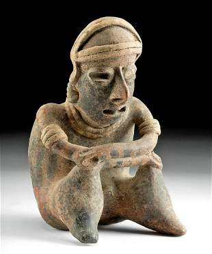 Nayarit Pottery Seated Mourning Figure
