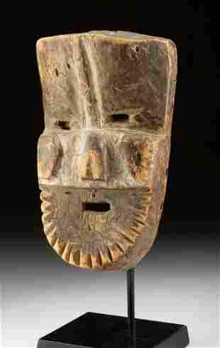 Early 20th C. Liberia Grebo Wood Mask