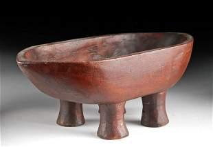 Rare 19th C. Tahitian Wooden Bowl - Kava Ceremony