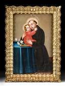 Framed 18th C. Peruvian Painting, Antonio de Padua