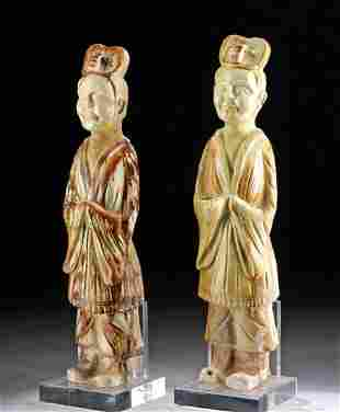 Chinese Tang Pottery Attendant Figures, TL Tested