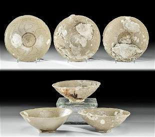 Chinese Song Dynasty Pottery Bowls - Sea Encrustations