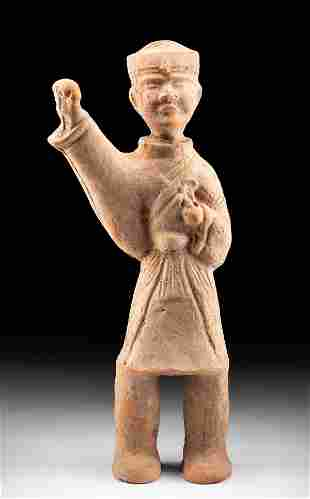Chinese Han Dynasty Terracotta Standing Male Figure